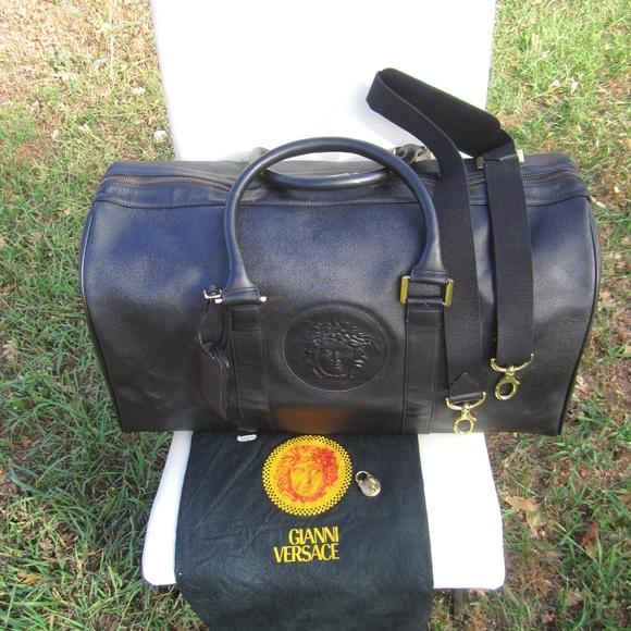 e1f5614233 Gianni Versace Medusa Travel Duffle Bag. M_5bd767a6df0307058509417f